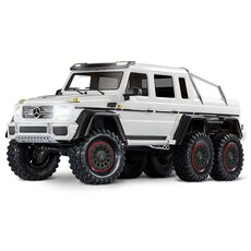 Mercedes-Benz G63 AMG 6x6 RTR ohne Akku-Lader inkl Licht 1-10 6WD Scale-Crawler Brushed weiss