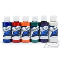 RC Body Paint All Pearl Color Set (6 Pack) Blue- Red- Orange- Green- Purple- White